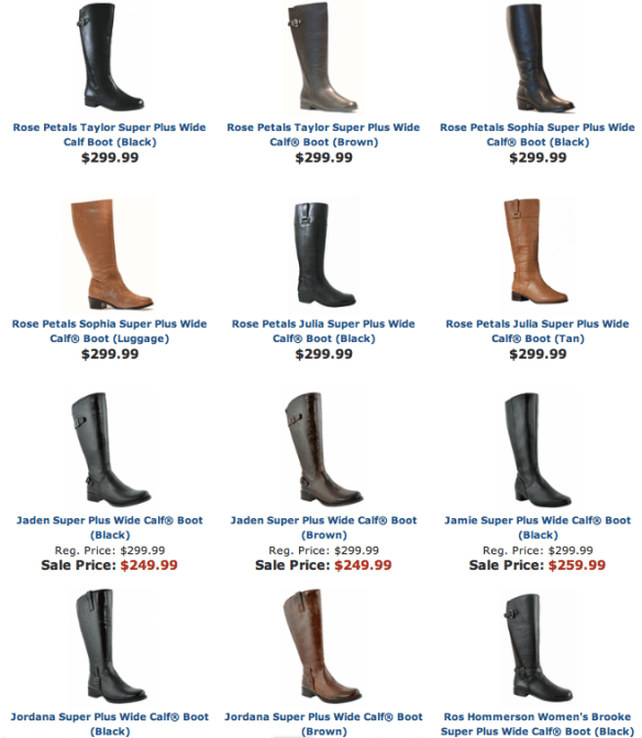 Widewidths.com Super Plus Wide Width Calf Boots