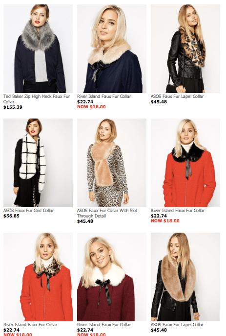 ASOS Standard Size Faux Fur Collars