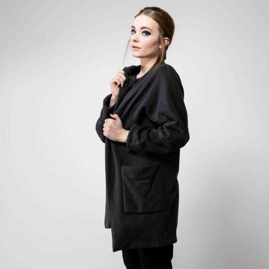 Manteau ALAN FLEECE BLACK de chez Jan' N June à 140€