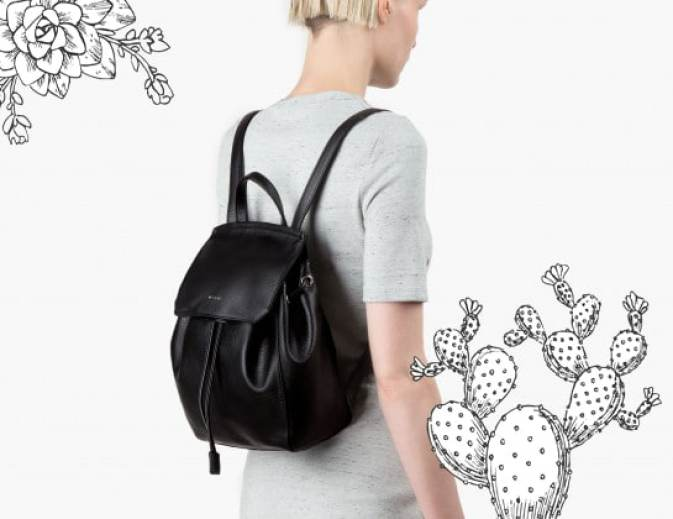 Photo d'un sac à dos en simili cuir #fashion #mode #tendance #sac