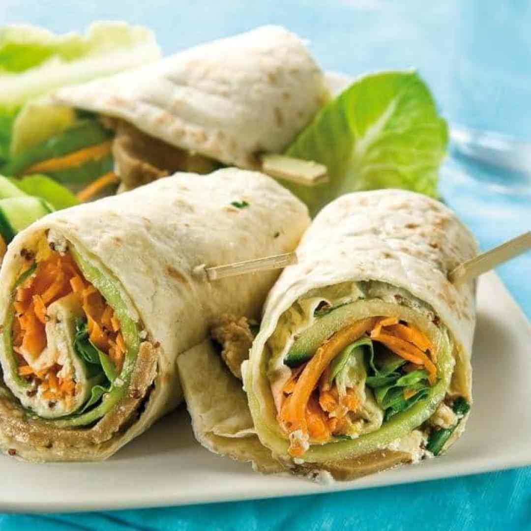 Photo de wraps vegans