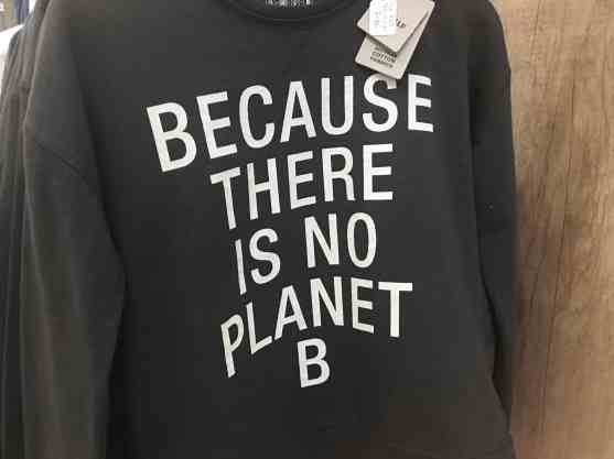 "Sweat ECOALF ""Because there is no planet B"""