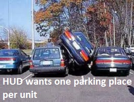 one parking place per unit