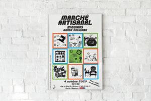 affiche d'un marché artisanal