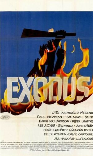 Affiche du film Exodus avec Paul Newman