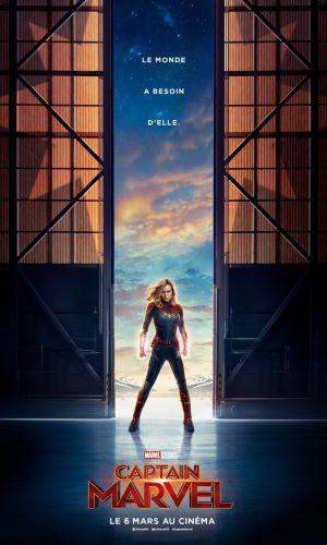 Affiche du film Captain Marvel ave Brie Larson