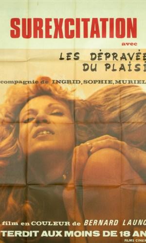 Affiche d e cinéma Les dépravées du plaisir