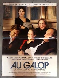 """Affiche du film """"Au Galop"""" (2012) 60x40cm"""