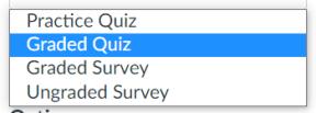 Canvas quiz detail options