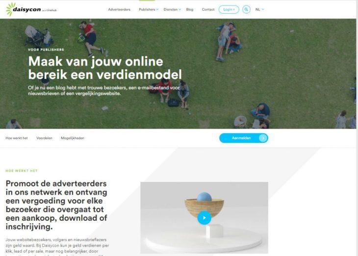daisycon homepage