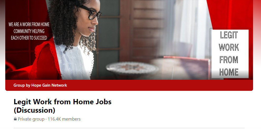 Legit Home Jobs Facebook Group