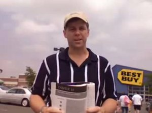 Shawn Collins at a Best Buy during better times