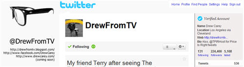 Follow @drewfromtv on Twitter