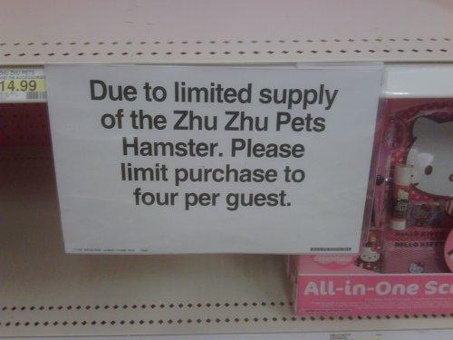 Zhu Zhu Pets Scarcity