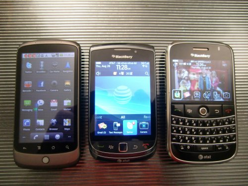 BlackBerry Torch with keyboard in