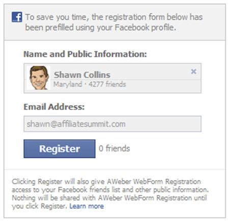 AWeber and Facebook