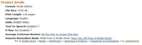 Extra Money Answer was #1 in E-commerce on Amazon in the UK