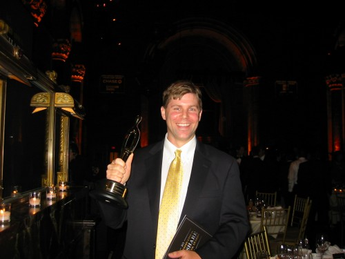 Shawn Collins celebrates his LinkShare Golden Link Award