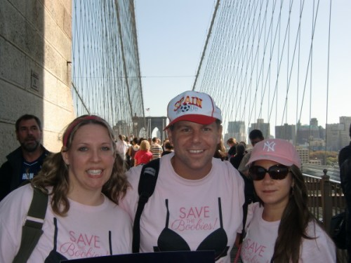 Tricia Meyer, Shawn Collins, and Vanessa Branco at the Avon Walk in NYC in 2012