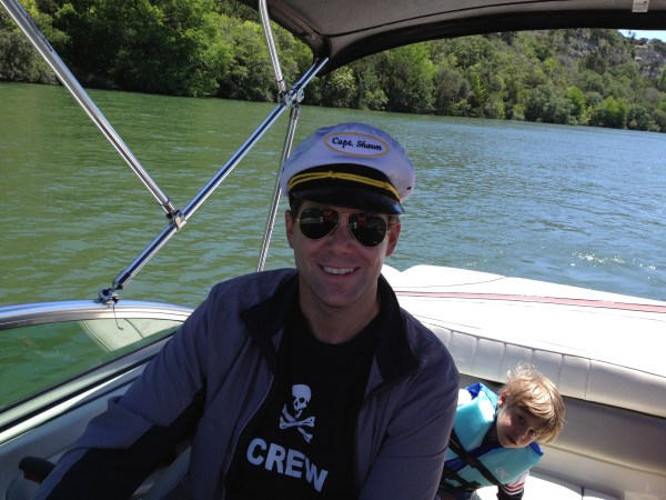 Captain Shawn on Lake Austin - May 2013