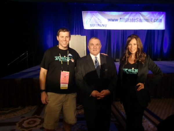 Shawn Collins, Rudy Ruettiger, and Missy Ward at Affiliate Summit West 2013 - January 2013