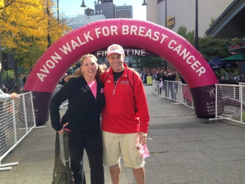 Finish Line at the Avon Walk for Breast Cancer
