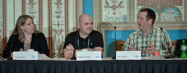 Tricia Meyer, Nathan Smith, and Joe Sousa at Affiliate Summit West 2017