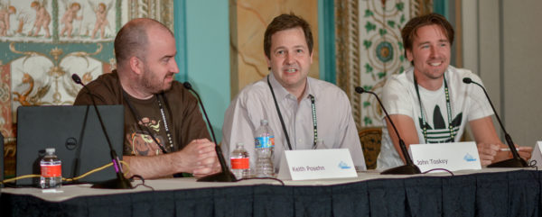 Keith Posehn, John Toskey, and Jelle Oskam at Affiliate Summit West 2017