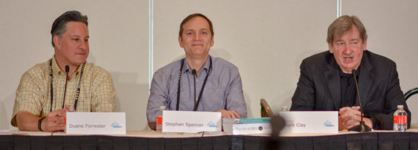 Duane Forrester, Stephan Spencer, and Bruce Clay at Affiliate Summit West 2017