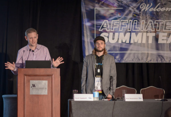 David Vogelpohl and Brian Messenlehner at Affiliate Summit East 2017
