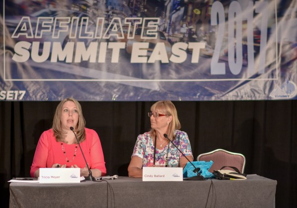 Tricia Meyer and Cindy Ballard at Affiliate Summit East 2017