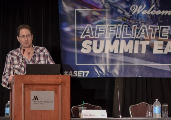 Evan Weber at Affiliate Summit East 2017