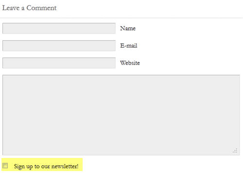AWeber opt-in via blog comments