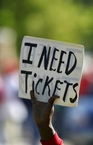 Scalping tickets