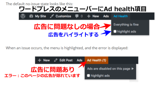 Advanced AdsのAd health機能