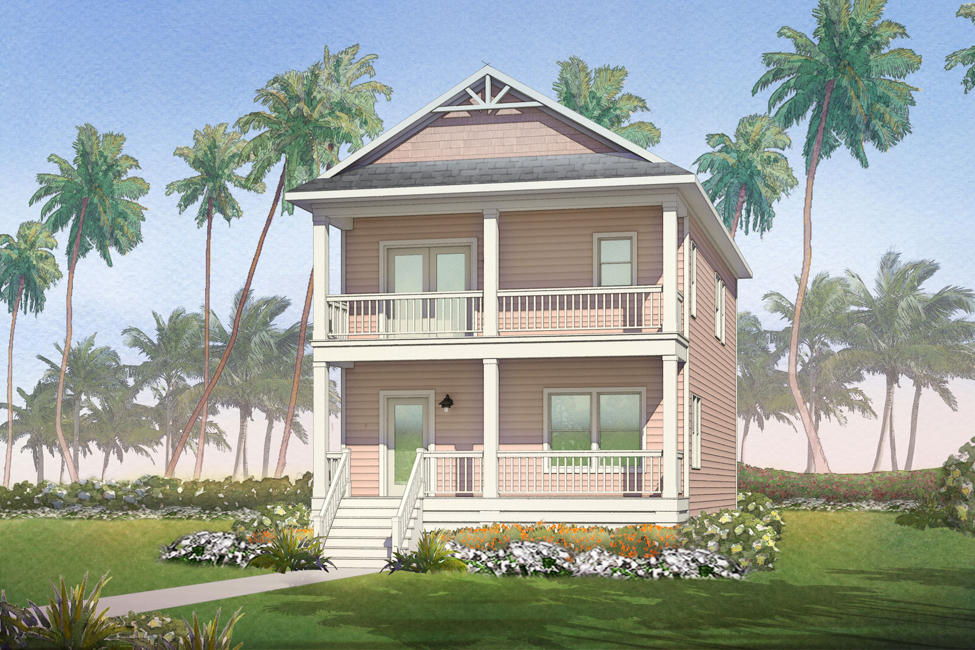 battery point modular home rendering