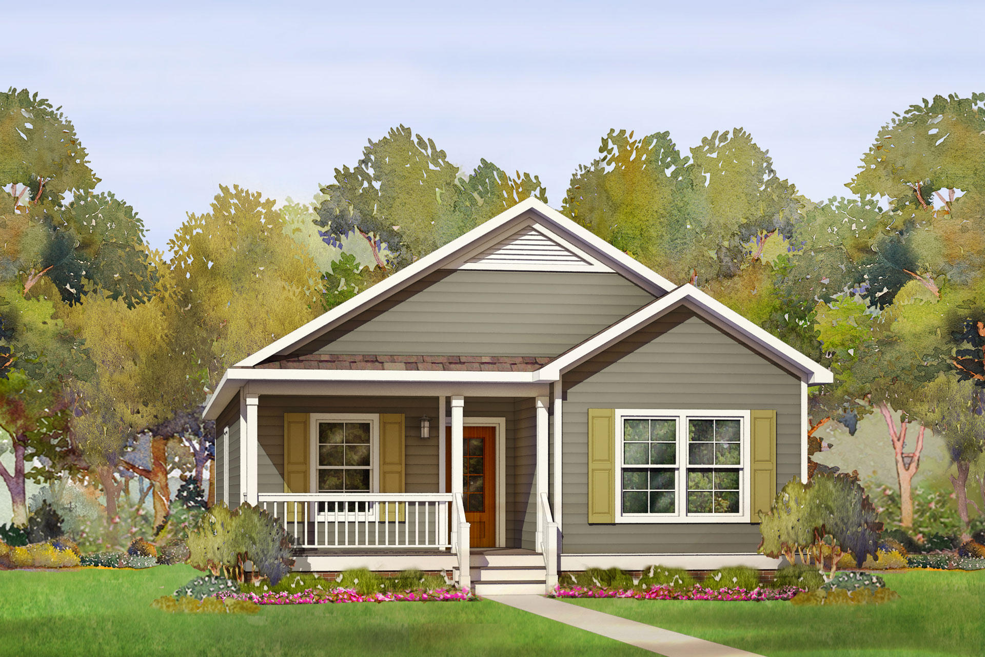 deerwood modular home rendering