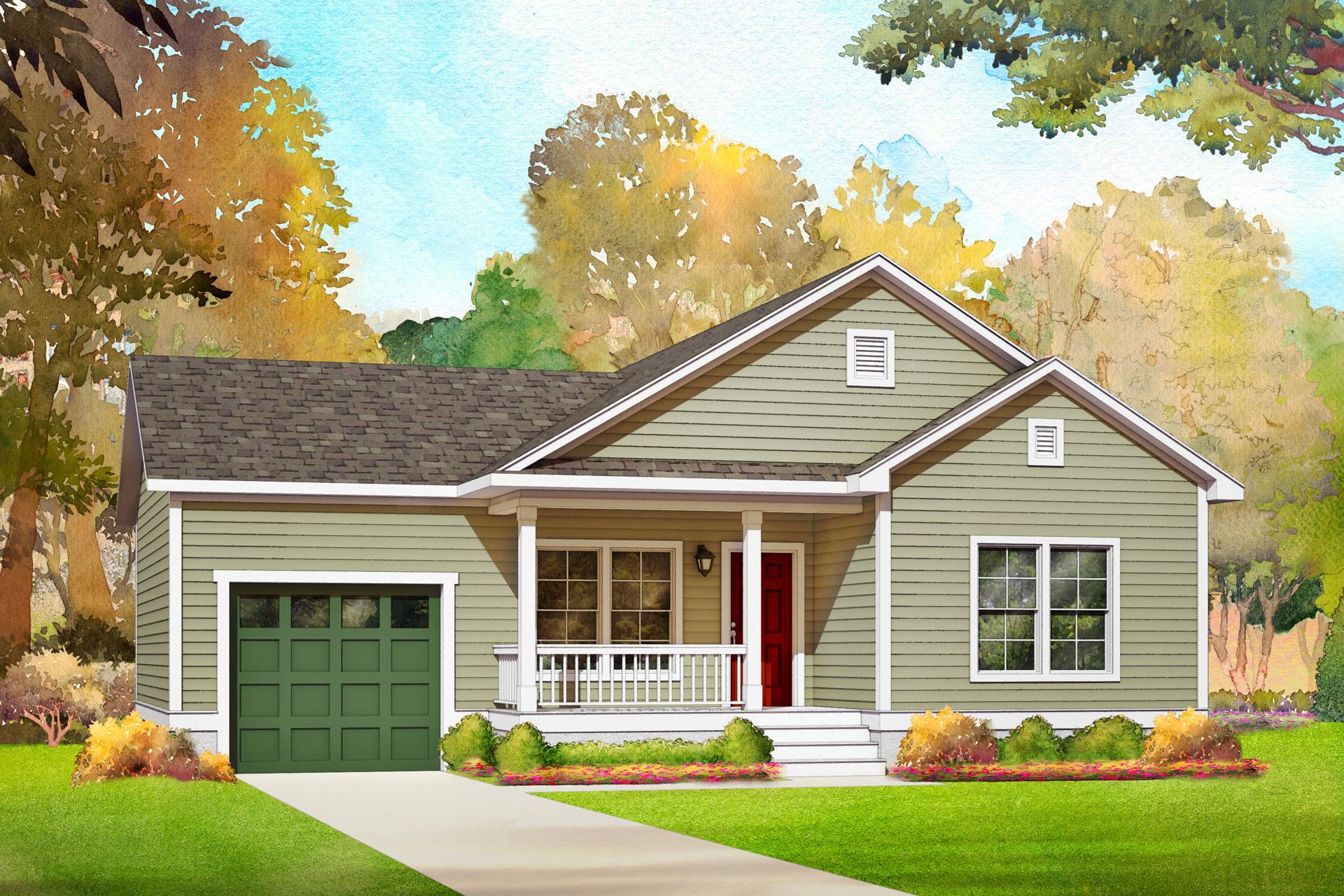 grove modular home rendering