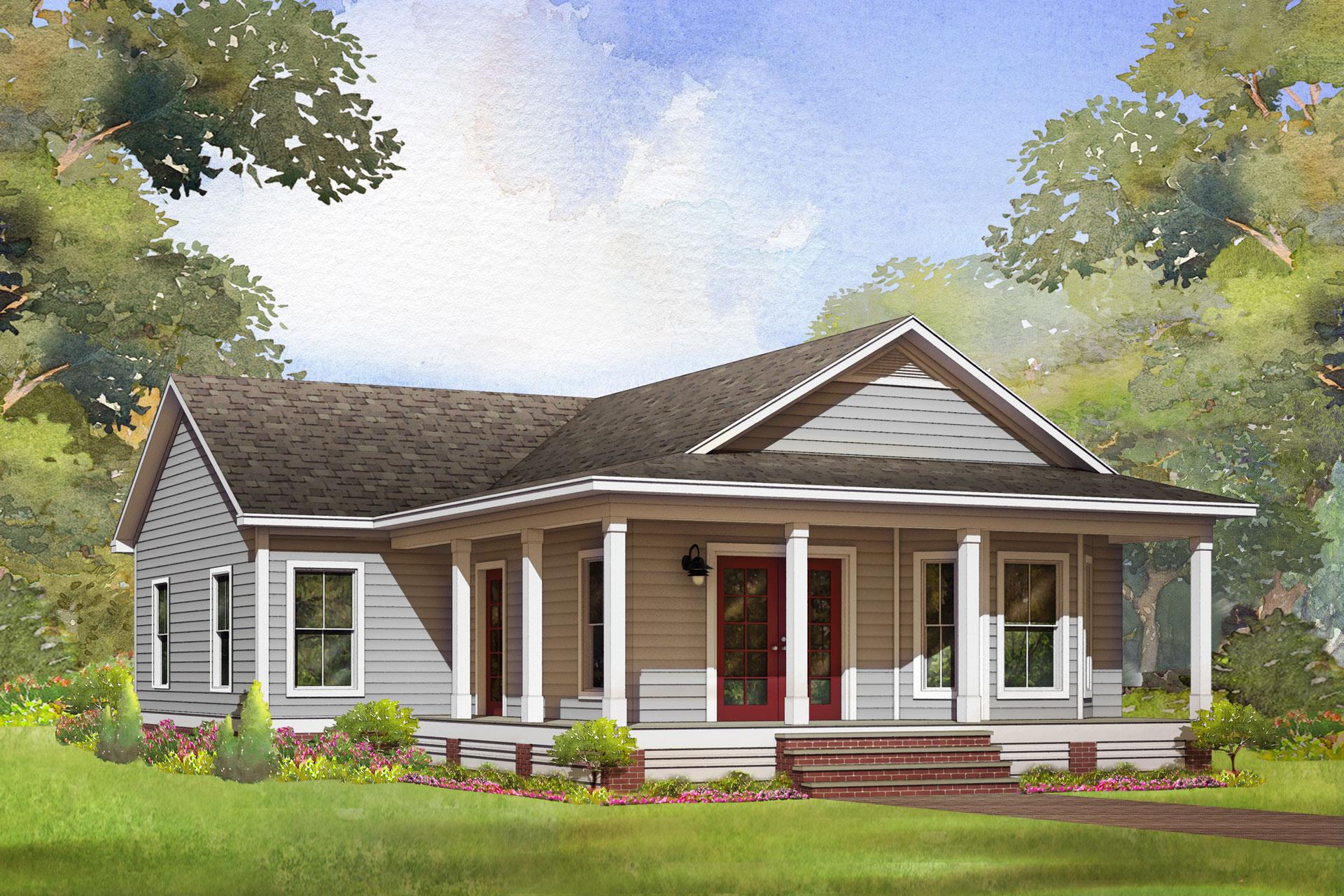 kingsland modular home rendering