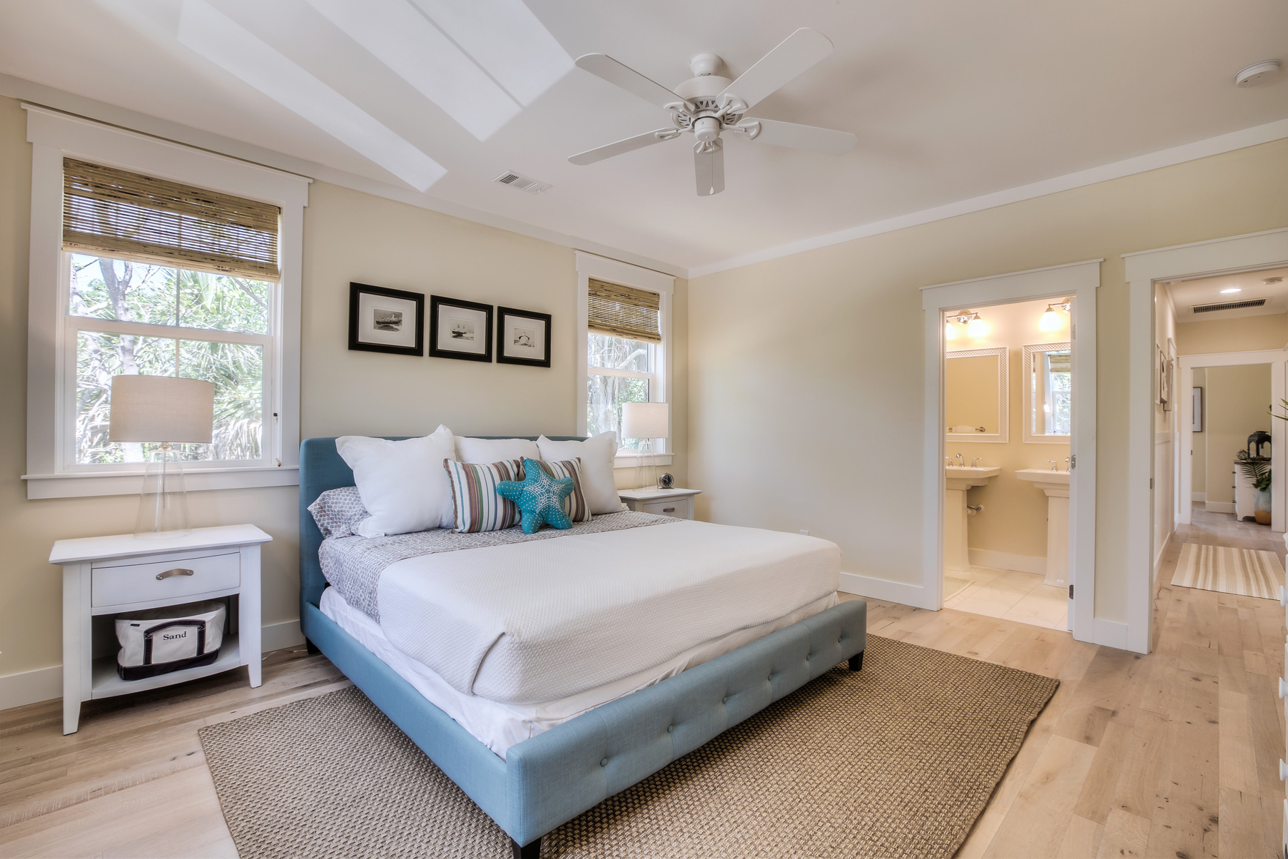custom beach vacation modular home interior