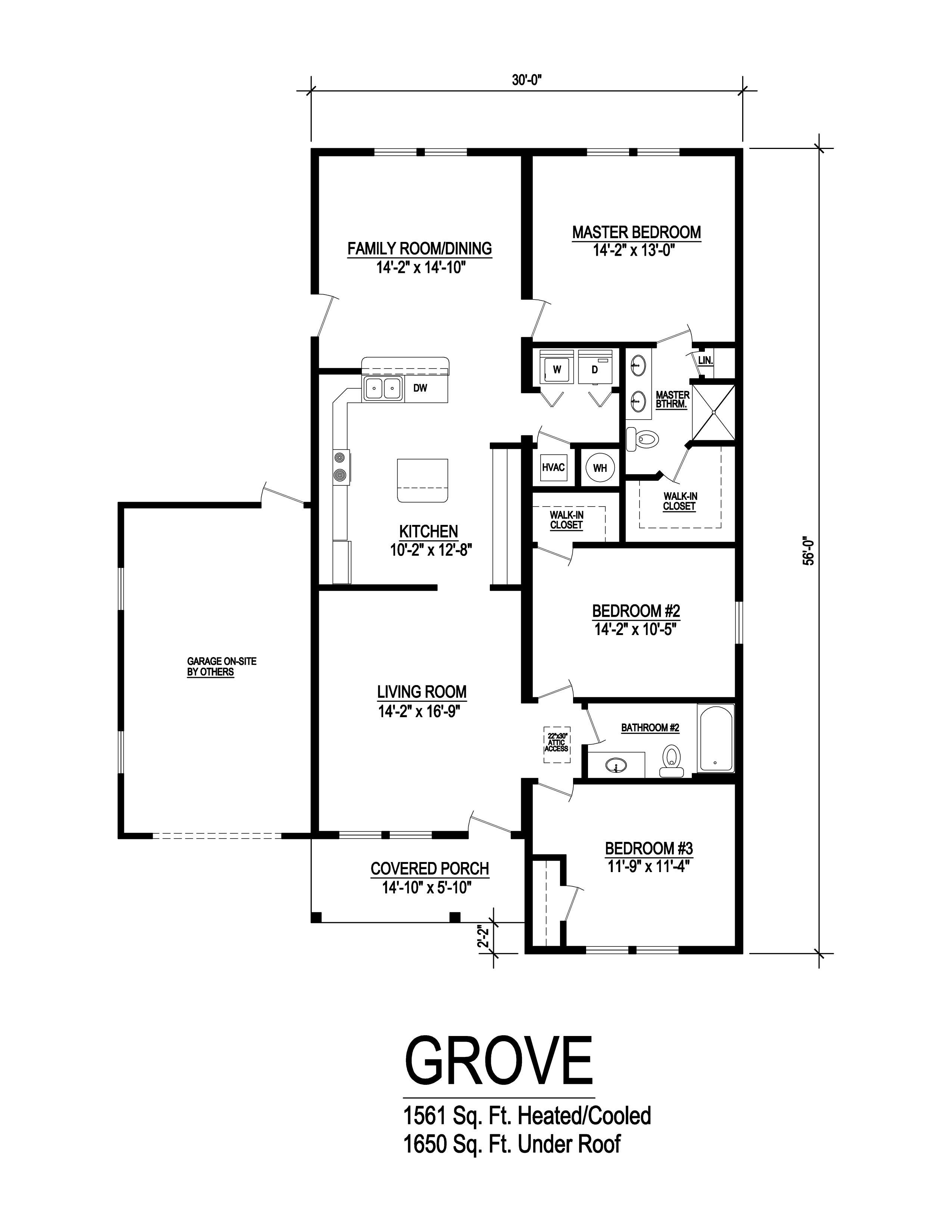 grove modular home floorplan