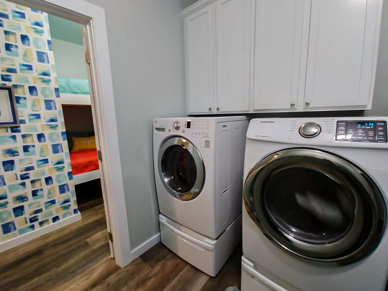 modular home laundry room