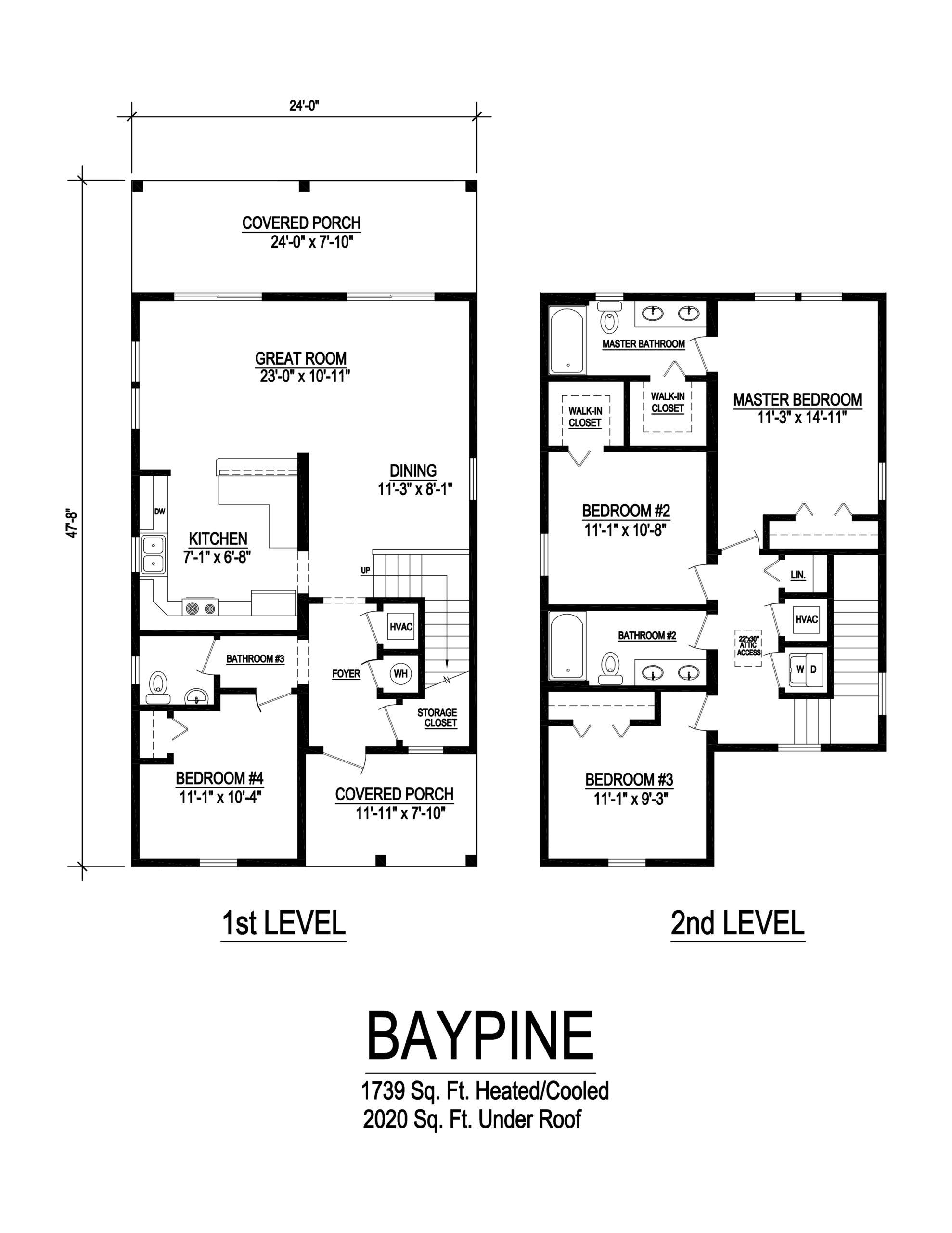 baypine modular home floorplan