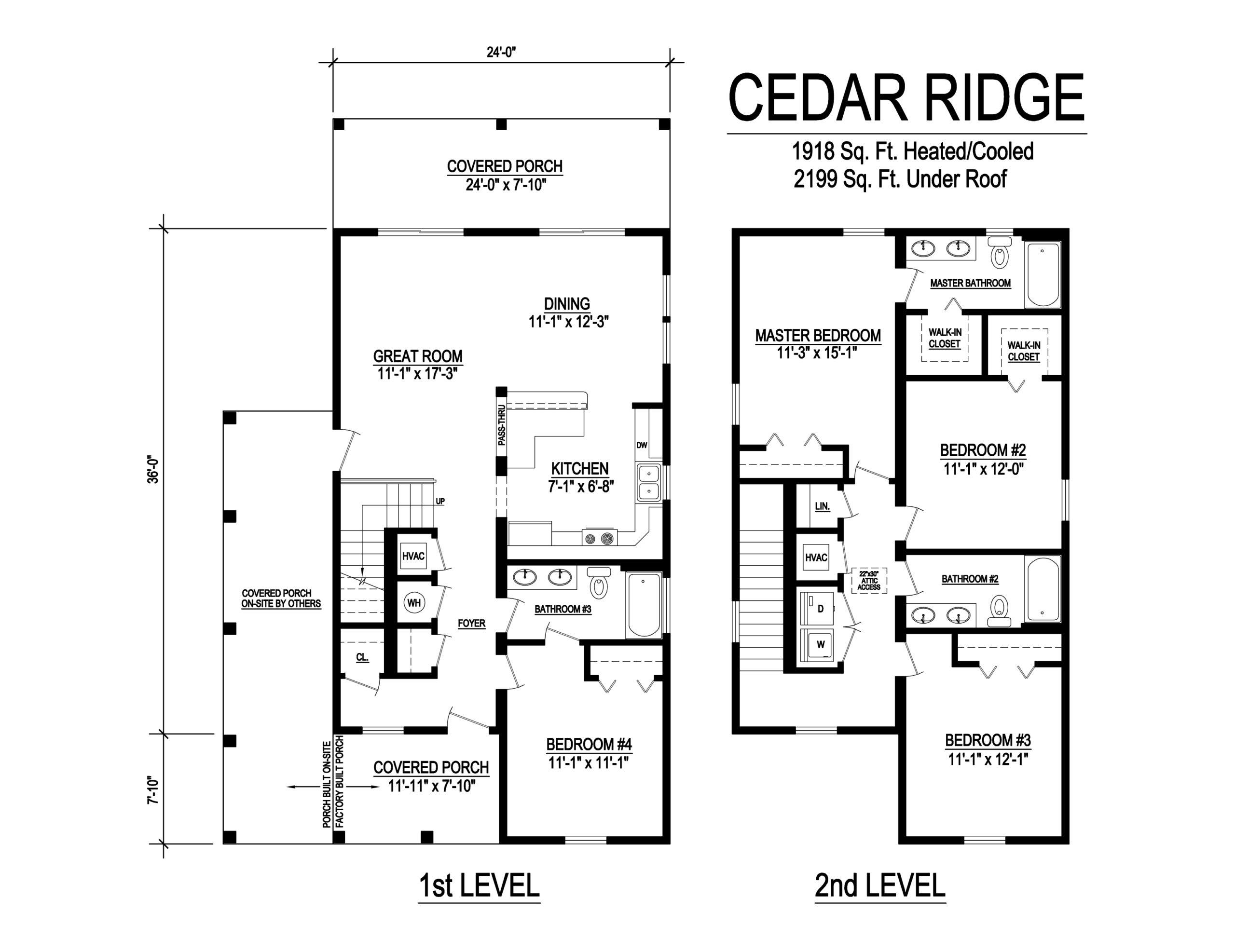 cedar ridge modular home floorplan