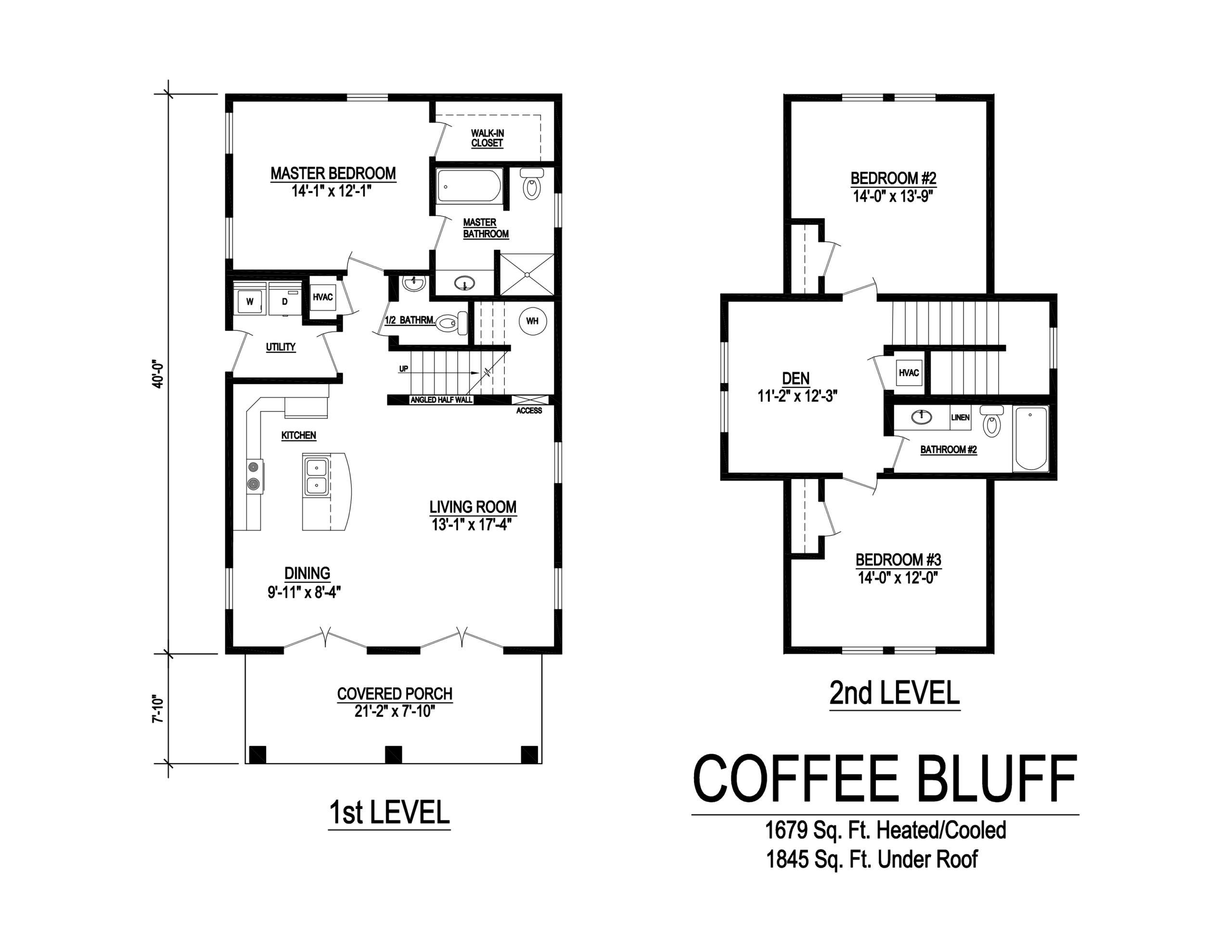 coffee bluff modular home floor plan