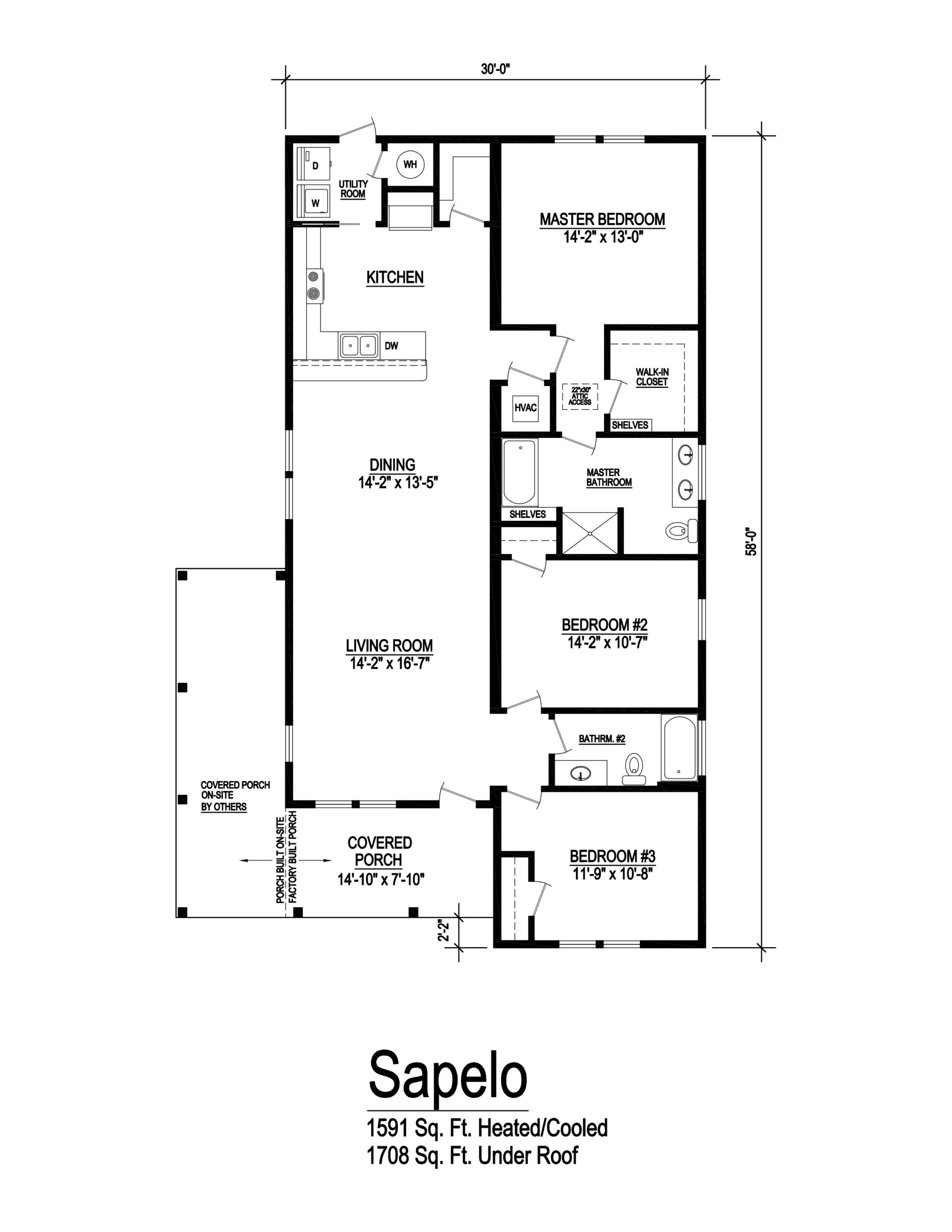 sapelo modular home floor plan