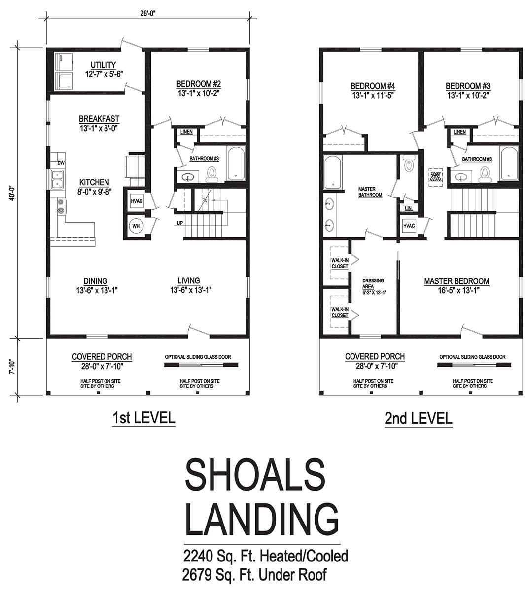 shoals landing modular home floor plan