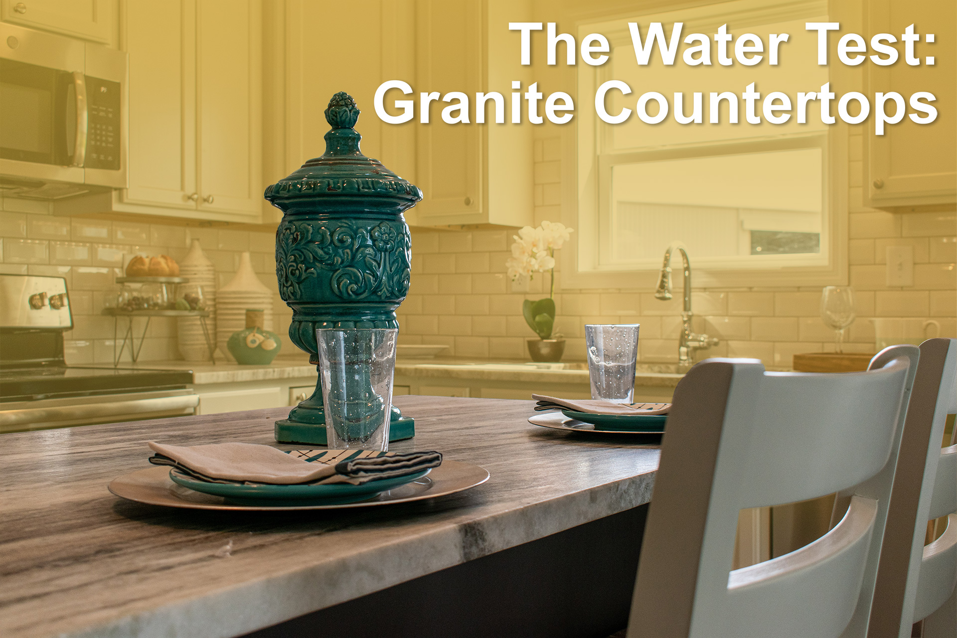 the water test granite countertop