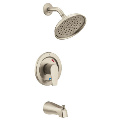 48003BNGR Cycling TubShower with Head - Brushed Nickel