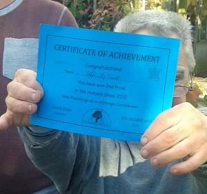 Herefordgardening award certificate